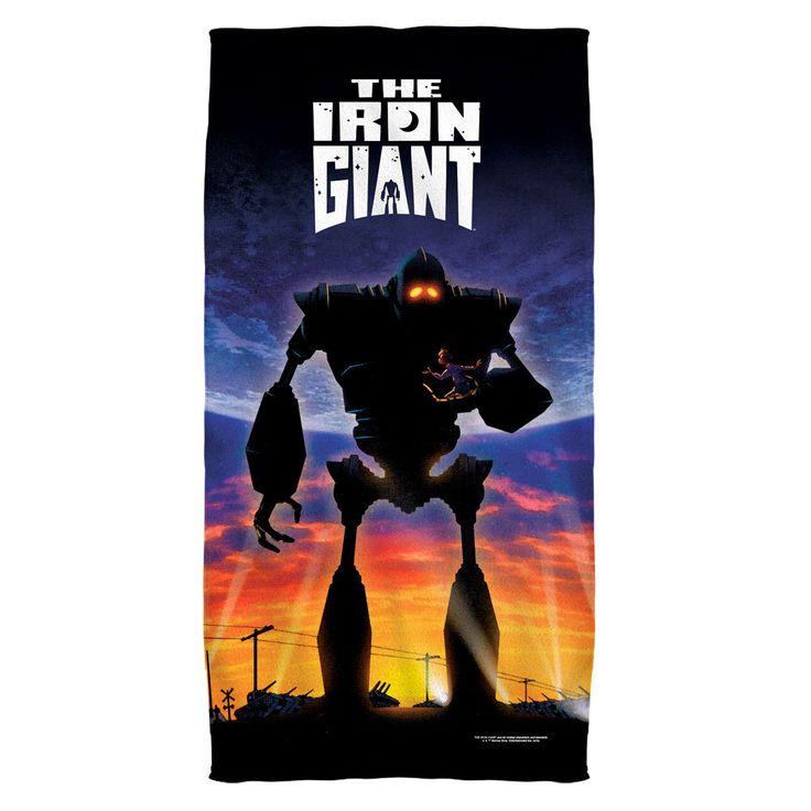Iron Giant Poster Golf Towel