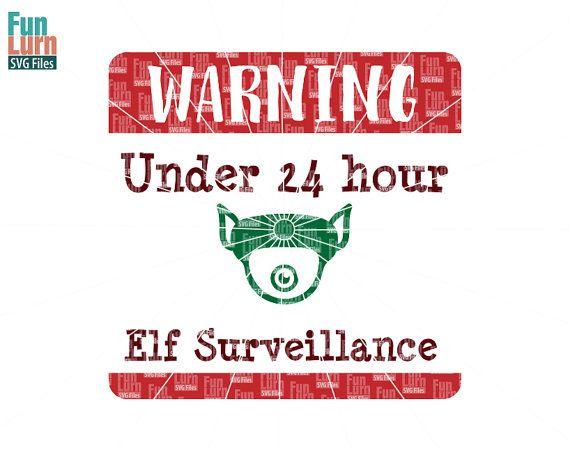 Santa Cam Elf Surveillance Svg Christmas Svg Sign By