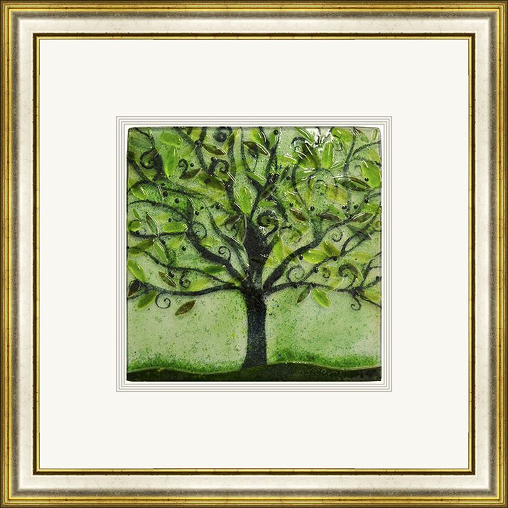 'Summer' by Edel Taggart. This piece has been hand crafted, fused & framed by Spires Art in Omagh. This piece is available in a variety of sizes.