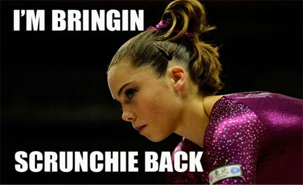 No, please don't. Her makeup is pretty flawless though. McKayla Maroney Meme from the 2012 Olympics.