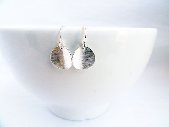 Silver coin earrings  sterling coin earrings  by handmadeintoronto, $22.00