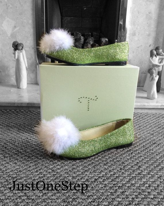 TINKERBELL SHOES And Tinkerbell WIG Matching Set by JustOneStep