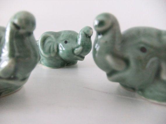 Vintage Egg Cups - Ceramic Elephant Egg Cups #etsy