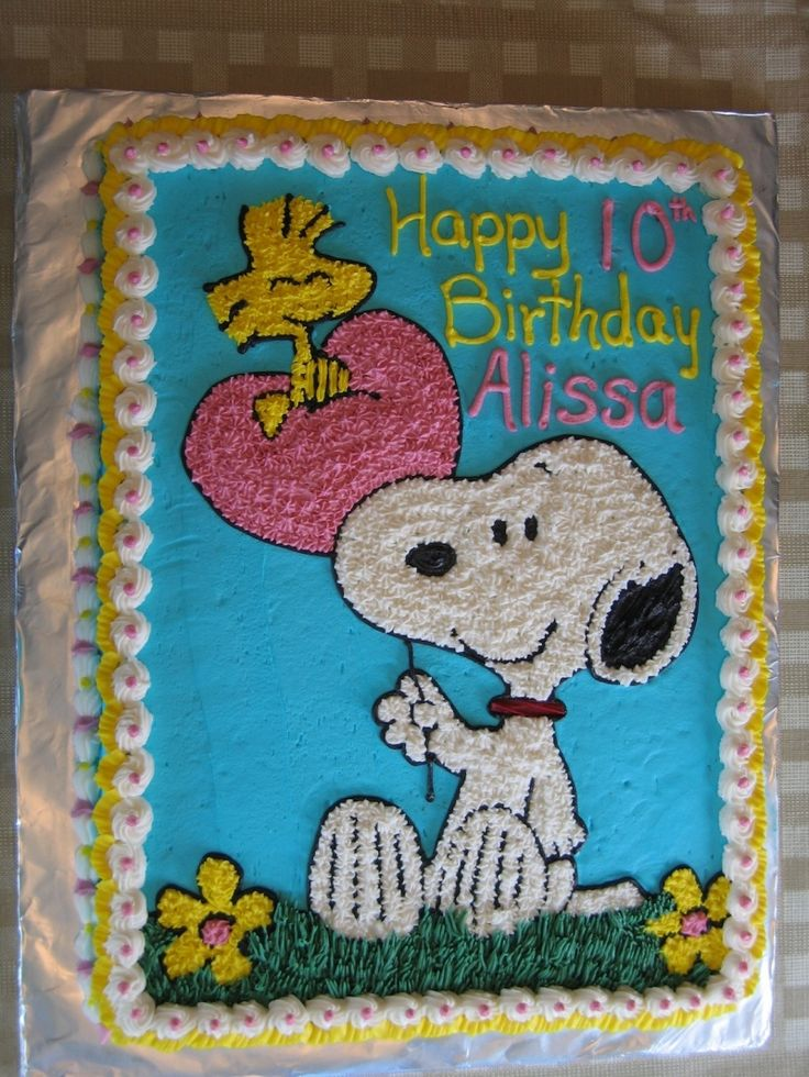 Snoopy and Woodstock Birthday Sheet Cake!