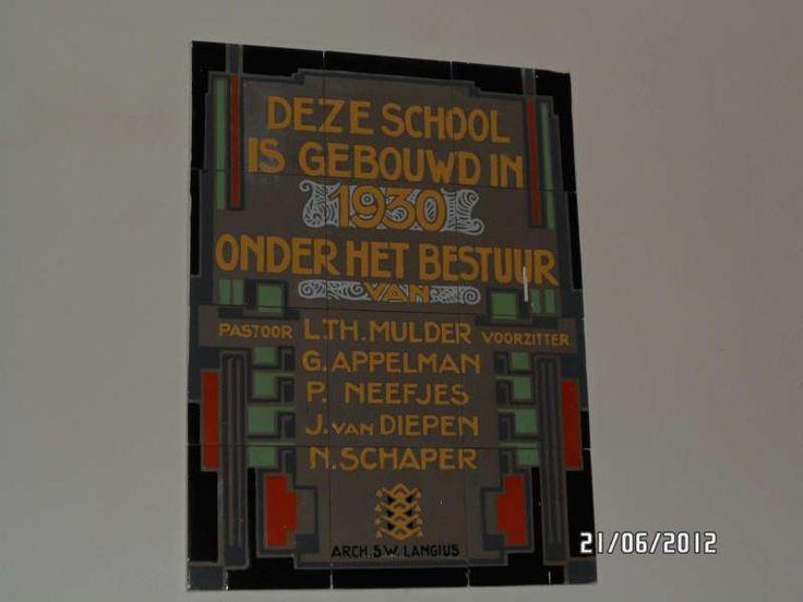 TEGELS op LOCATIE in NEDERLAND - Selectie met Zoekterm S.W. Langius Dr. Nuijenstraat  122  1617 KE Westwoud