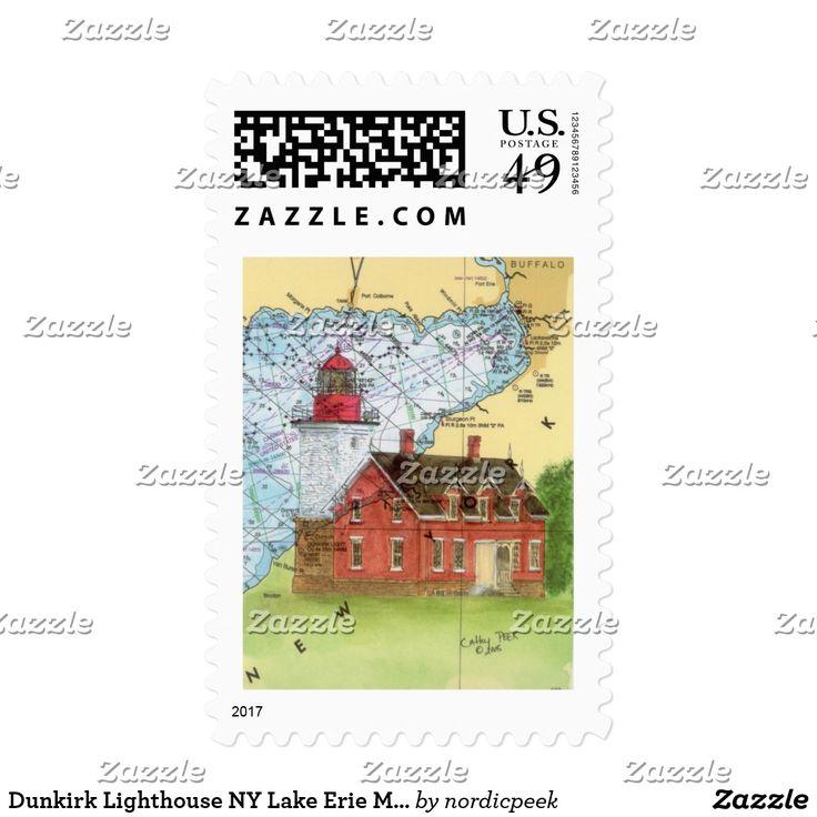 Dunkirk Lighthouse NY Lake Erie Map Cathy Peek