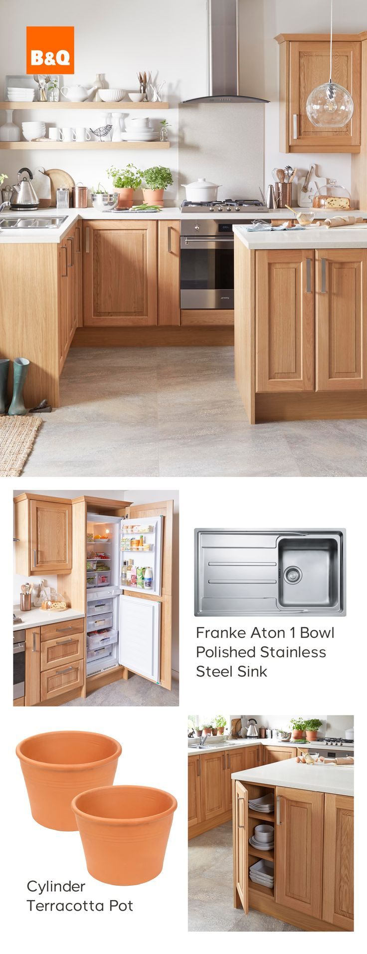 Leather jacket killer b&q - Kitchens At B Q Cooke Lewis Chesterton Solid Oak Kitchen Is A Modern Classic Giving A Warm Homely Feel
