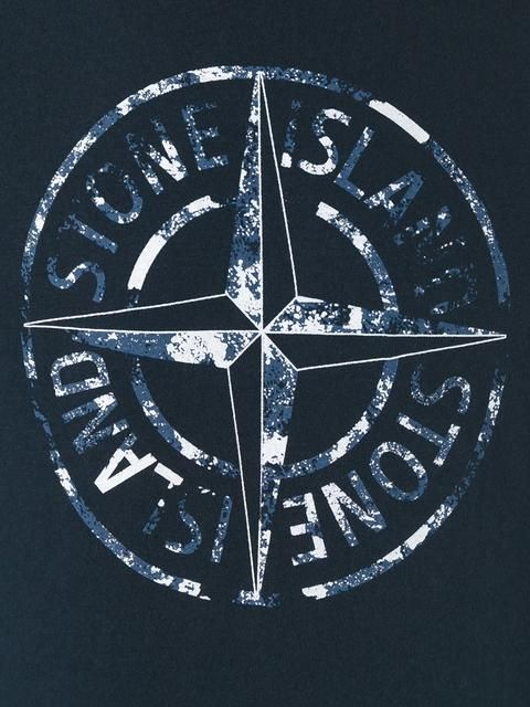 Купить Stone Island compass print T-shirt .