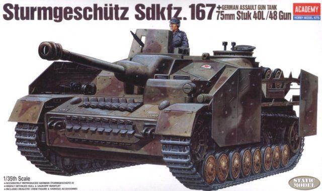 Sturmgeschutz IV Sd.Kfz.167, German Assault Gun Tank. Academy, 1/35, injection, No.13235. Price: 13,50 GBP.