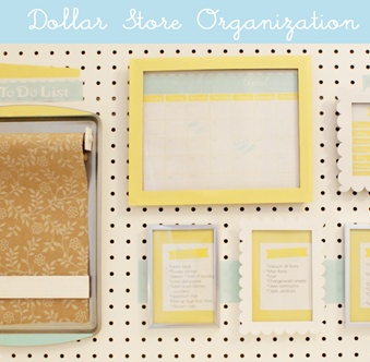 dollar tree organization board with printables and tutorial