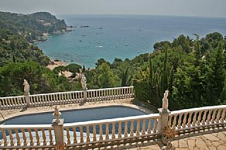 Beautiful view from Casa Tossa de Mar, Spain