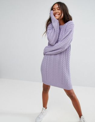 ASOS Sweater Dress With Cable Knit