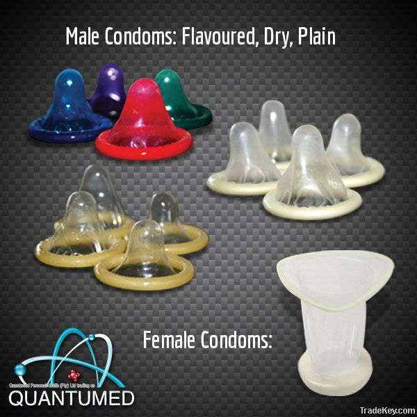 QUANTUMED's complete range of Male and Female Condoms.