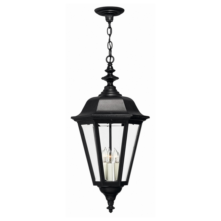 Hinkley Lighting 1472BK 3 Light Manor House Outdoor Pendant, Black    Lighting Universe