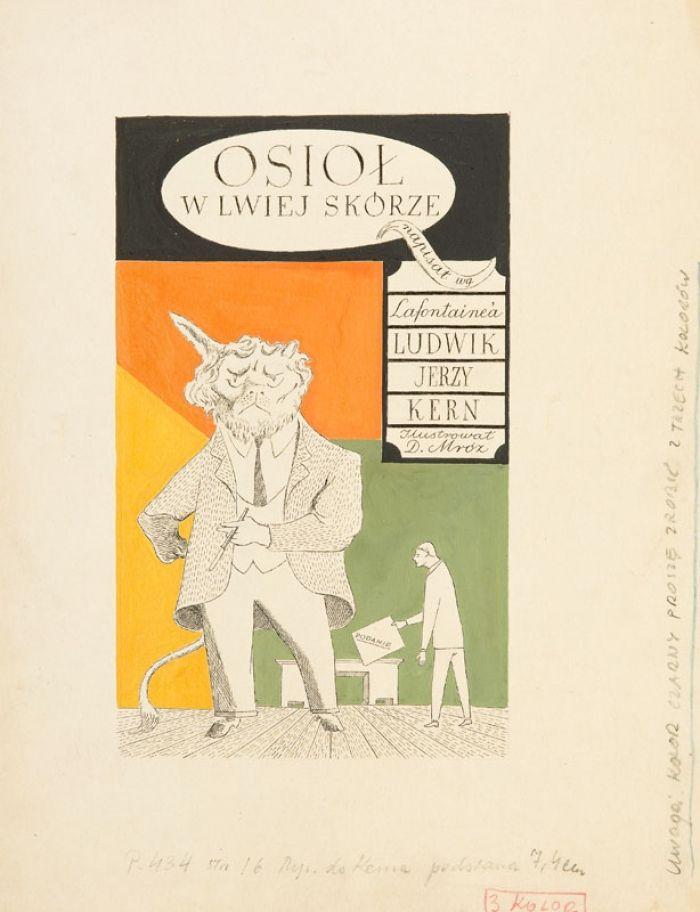 Daniel Mróz - Bajki są tu - Osioł w lwiej skórze, 1953 r., strona śródtytułowa nr 16