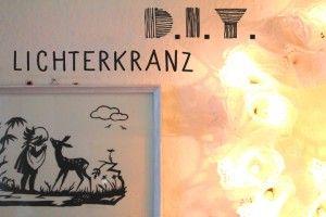 DIY: Lichterkranz aus Spitzenpapier - nähmarie