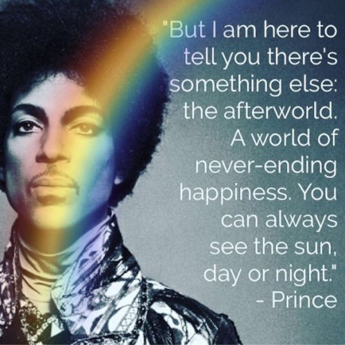PRINCE-QUOTE-AFTERLIFE-RAINBOW-IMAGE-A4-Poster-Gloss-Print-Laminated-New