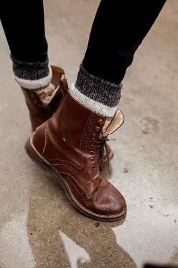 I love these combat boots as cute winter boots!