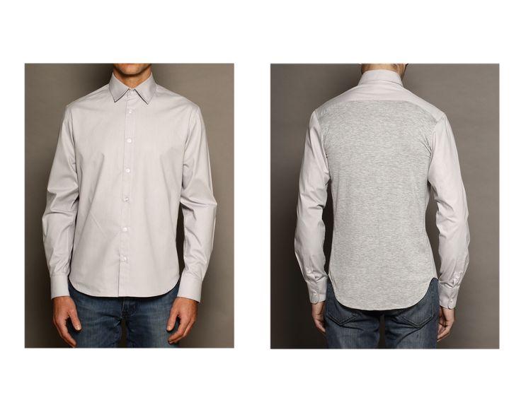 Camisa gris espalda en jersey de BoyfriendsShirt CALAMIEL FW14/15