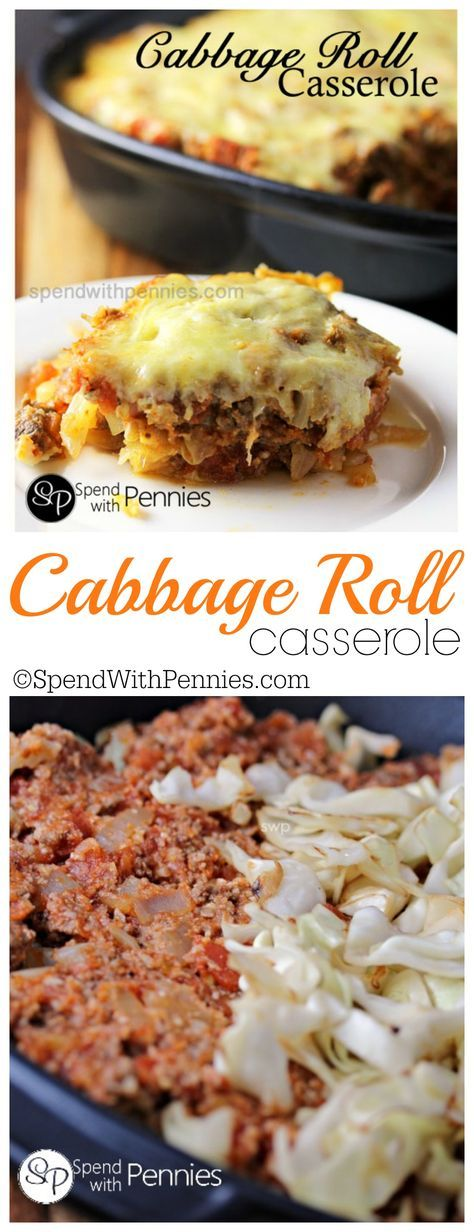 This Cabbage Roll Casserole recipes layers all of the delicious flavors of cabbage rolls without the rolling! Quick and easy comfort food!