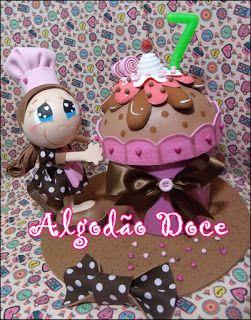 Artesanato com amor...by Lu Guimarães: Lindinha Cupcake