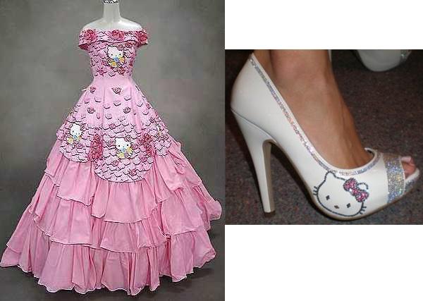 Hello Kitty Bridesmaid Dress
