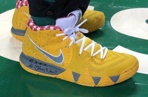 The Nike Kyrie 4 Yellow Lobster Will Be Releasing Very Soon