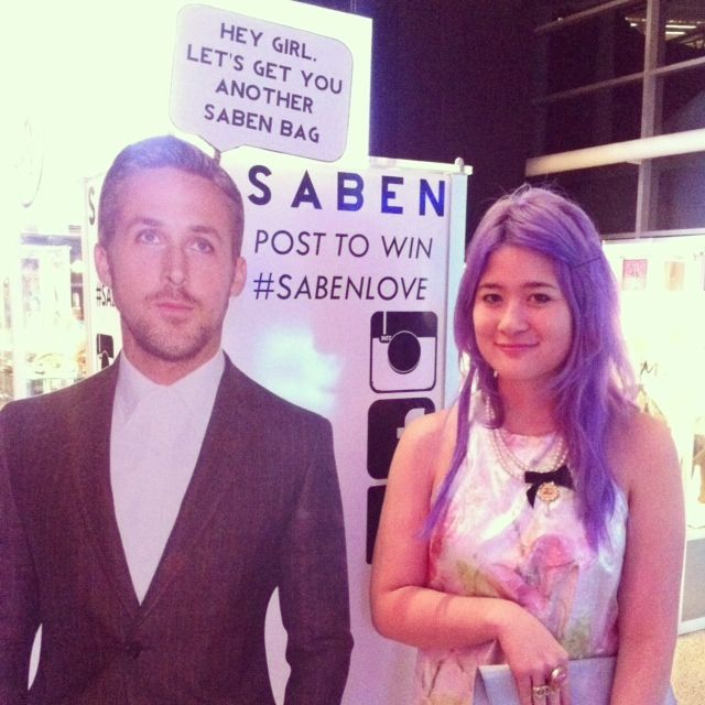 @Little Black Book with Ryan Gosling at #NZFW - what a good looking pair!!