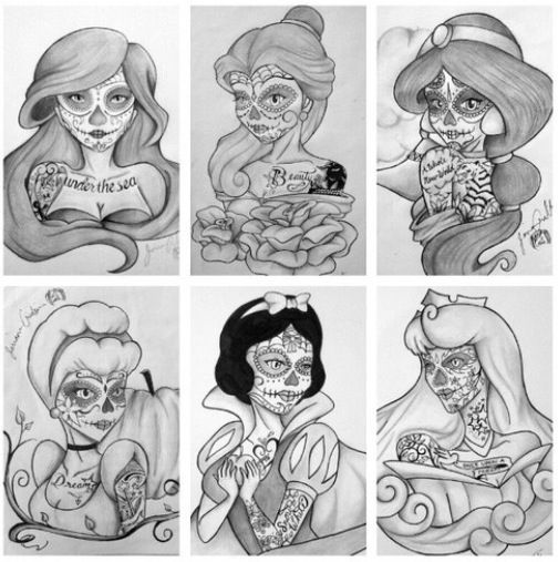 Interesting twist on the Disney Princesses. I have a few Snow White tats, but don't see myself liking this Snow White.