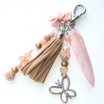 Sleutelhanger Vintage Pink