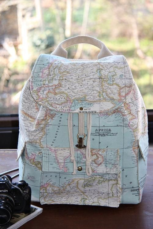 116 best totes bags of all shapes sizes images on pinterest bag leather backpack map print backpack map leather bag world globe cute perfect stylish back to gumiabroncs Choice Image
