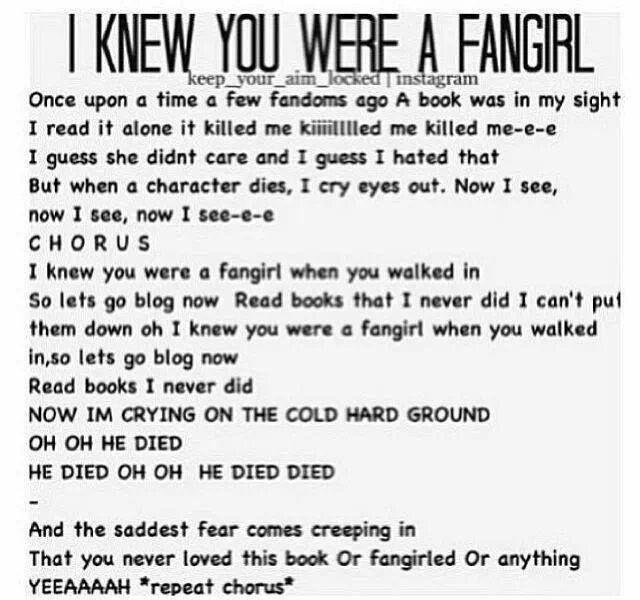 I Knew You Were a Fangirl #TaylorSwift #Fangirl