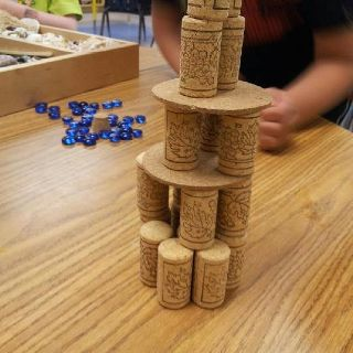 Cork towers - Maybe write sight words on them and play like 'stack-it?'