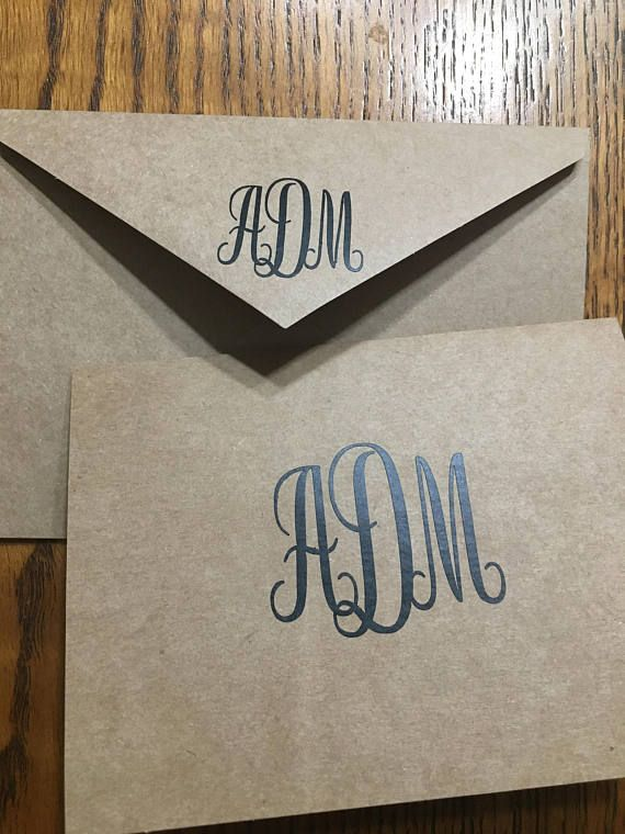 #Monogrammed #stationery-It's not just a southern thing... but it is a classy thing. https://www.etsy.com/listing/547148070/monogrammed-stationery-kraft-paper?utm_content=bufferea05b&utm_medium=social&utm_source=pinterest.com&utm_campaign=buffer