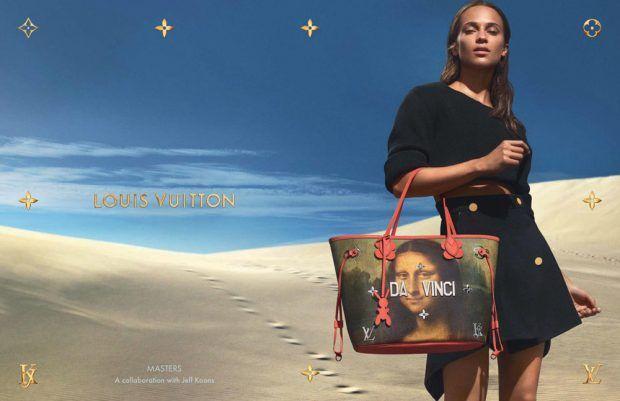 Alicia Vikander is the Face of Louis Vuitton x Jeff Koons Handbags 2017