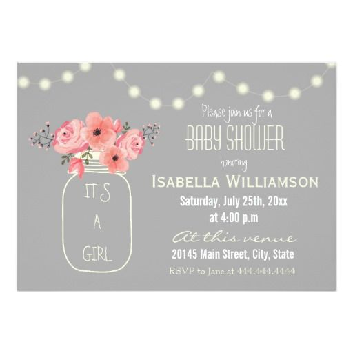 429 best images about mason jar baby shower invitations on,