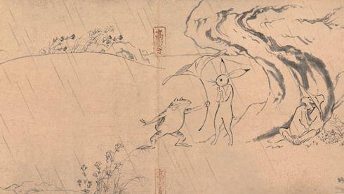 日本人には馴染み深い絵巻物語「鳥獣戯画」がついにアニメになった。しかも制作はあのスタジオジブリ。丸紅新電力の企業CMとして放映される。