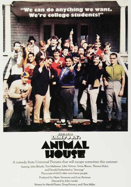 National Lampoon's Animal House Movie Ad (1970's)