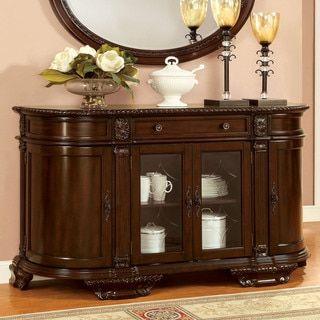Furniture Of America Oskarre Brown Cherry Formal Dining Server