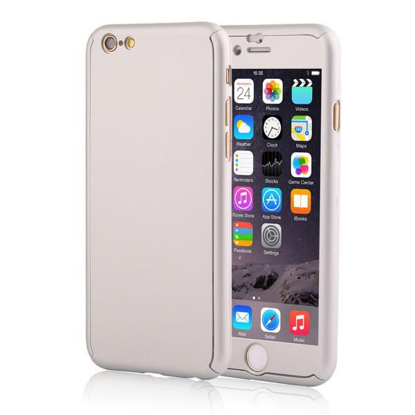 5 5s 360 Degree Full Coverage Coque Phone Cases for Apple iPhone 5 5s SE Hard PC Front Case Clear Screen Film Protective Cover