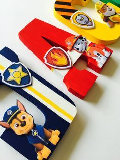 Paw Patrol Letters by ShopLiamSloane on Etsy