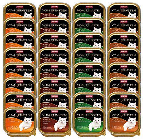 Aus der Kategorie Nassfutter  gibt es, zum Preis von EUR 14,99  Animonda Katzenfutter Vom Feinsten Mixpack mit vier verschiedenen Sorten, natürlich ohne Zucker und Soja, frei von Geschmacksverstärkern und künstlichen Farb- und Konservierungsstoffen.Enthält 32 Schalen a 100g. Je 8 Stück der Varietäten Multifleisch-Cocktail, mit Geflügel + Kalb, mit Hühnchenleber und mit Pute + Kaninchen.