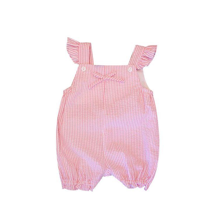 Sweet Summer Romper- Bright Pink KS4251 CS - Clothing - girls - Baby Belle