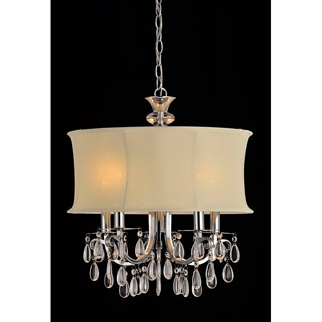 Add Elegance And Sophistication To Your Living E With This Five Light Crystal Chandelier
