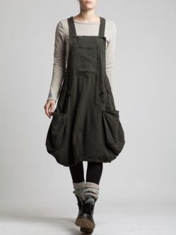 FLANNEL OVERALLS/dress.. I would change the bottom. It's cute for someone else, but I'm not into the bubble-thing.. (: