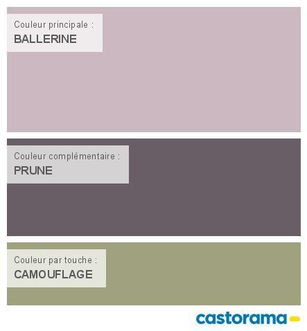 Castorama Nuancier Peinture - Mon harmonie Peinture  BALLERINE satin de COLOURS Collection