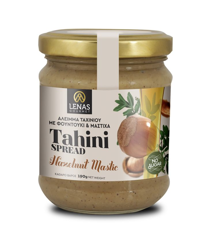 LENAS GOURMET - TAHINI SPREAD WITH HAZELNUT & MASTIC.