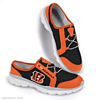 I Love The Cincinnati Bengals Womens Canvas Shoes