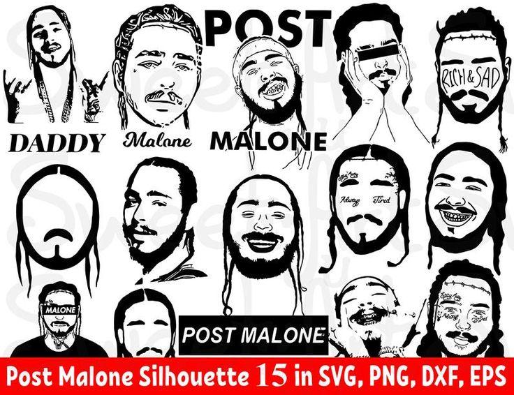 Post Malone 15 Svg Bundle Leave Me Malone Svg Post Malone Poster Malone Cricut Malone Png Post Malone Malone Silhouette