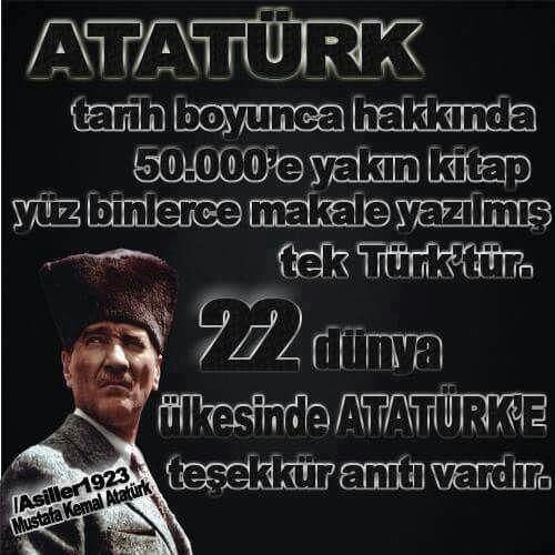 Türk halkının özgürlüğü için hayatını cephelerde savaşarak geçiren ve bize bağımsız Türkiye Cumhuriyeti'ni hediye eden Gazi Mustafa Kemal Atatürk'e çok şey borçluyuz...